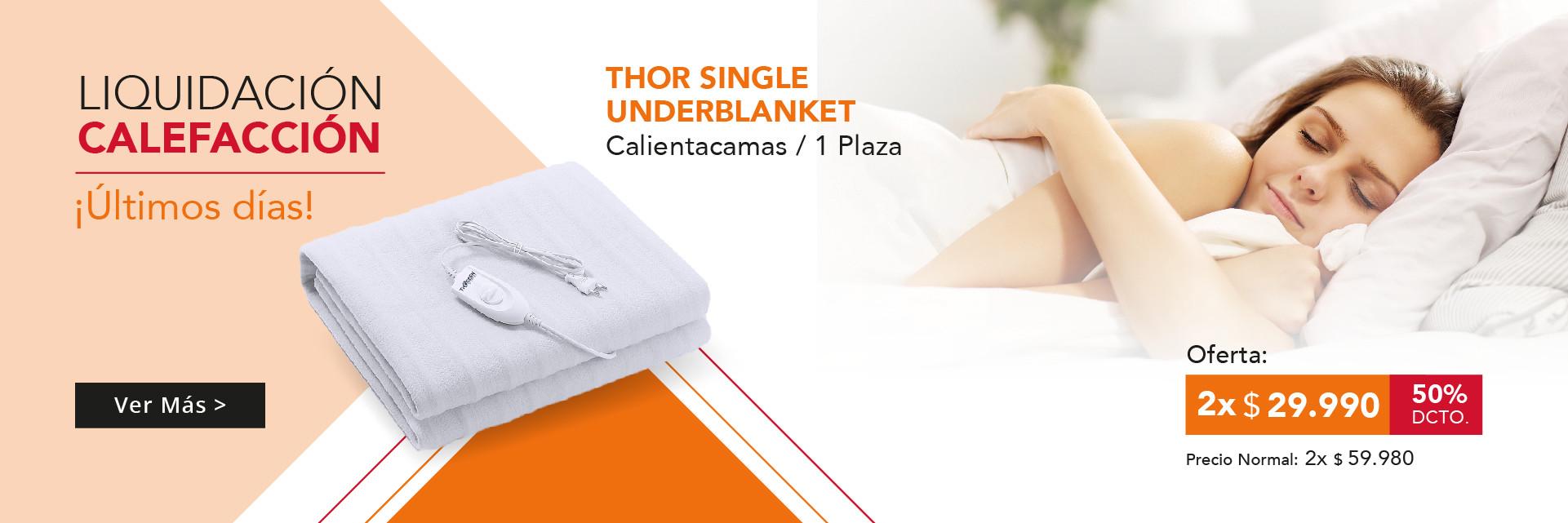 Calientacamas Thor Single Underblanket